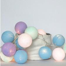 10 kul Baby Lavender Cotton Ball Lights