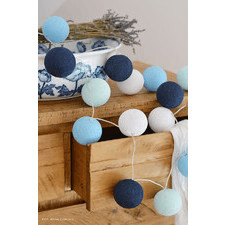 10 kul Big Blue Cotton Ball Lights