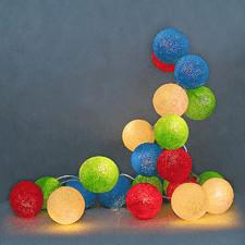 10 kul Colorful Cotton Ball Lights