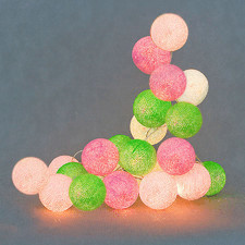 10 kul Spring Cotton Ball Lights