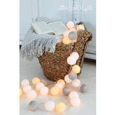 20 kul Green Canoe Cotton Ball Lights