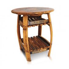 220 Old Wood STÓŁ z półkami PIEMONTE stolik nocny