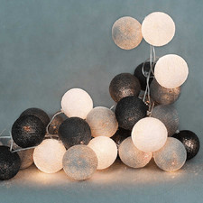 35 kul Grey Shadow Cotton Ball Lights