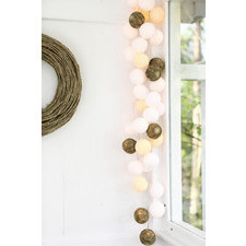 35 kul Natural Cotton Ball Lights