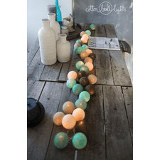 35 kul Peppermint Chocolate Cotton Ball Lights