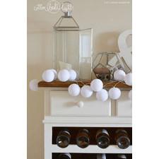 35 kul Pure White Cotton Ball Lights