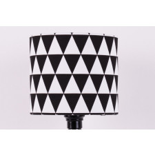Abażur Triangles Black 25x25x22cm