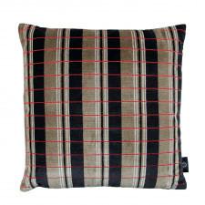 Aksamitna poduszka ROMO ze strukturalnym wzorem pomarańczowa
