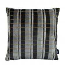 Aksamitna poduszka ROMO ze strukturalnym wzorem złota