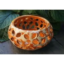 Ażurowy świecznik ceramiczny