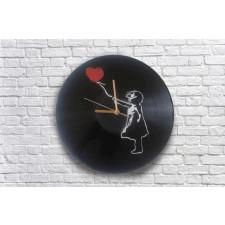 Banksy dziewczynka Zegar z płyty winylowej