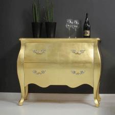 Barokowa komoda, kolor złoty.