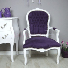 Barokowy, dekoracyjny fotel z serii