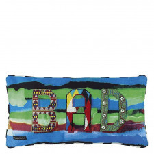 Barwna poduszka Christian Lacroix z haftowanym napisem 50x50 cm