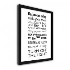 Bathroom 3, Plakaty w ramie
