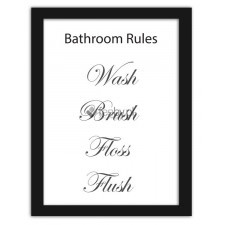 Bathroom rules 4, Plakaty w ramie