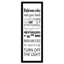 Bathroom, Plakaty w ramie