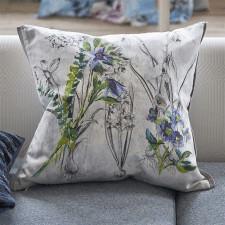Bawełniana poduszka 50x50cm Designers Guild z haftowanymi elementami