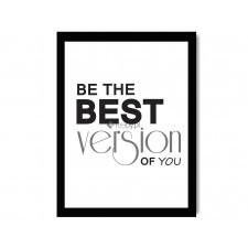 Be the best, Plakaty w ramie - Czarny || Czarno-białe