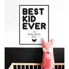 BEST KID EVER plakat na Dzień Dziecka A3