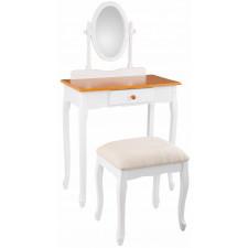 Biała toaletka z taboretem
