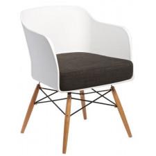 Białe krzesło z poduszką Viva