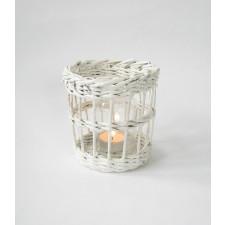 Biały lampion