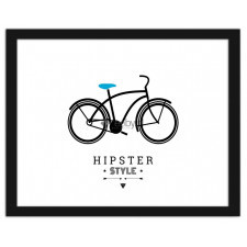 Bicycle - hipster style 2, Plakaty w ramie
