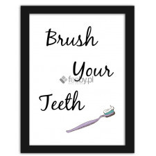 Brush your teeth 2, Plakaty w ramie