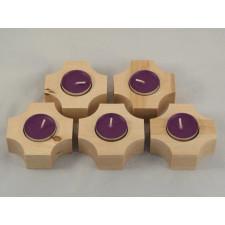 Brzozowe świeczniki - wariant 2