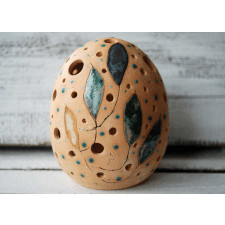Ceramiczny duży lampion - Srebrniki