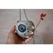 Ceramiczny lampion - Turkusowy staw