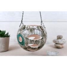Ceramiczny lampion wiszący Kula L