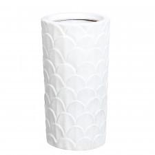 Ceramiczny matowy wazon z wytłoczonym wzorem - rozmiar S