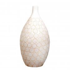 Ceramiczny wazon z wytłoczonym wzorem - rozmiar L