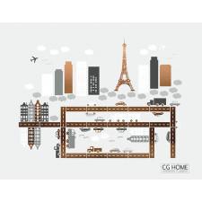 chic! PARIS city Eiffel MIASTO auta domy