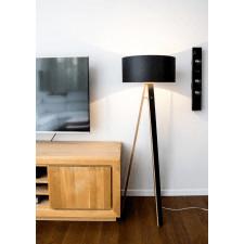 Czarna Lampa WANDA | czarny abażur