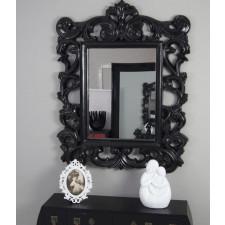 Lustro barokowe - czarne