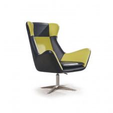 Czarno-zielony fotel wypoczynkowy do salonu Atlas