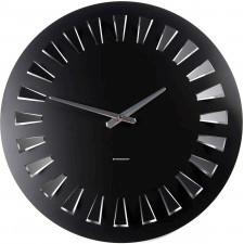 Czarny zegar ścienny Cut Round ExitoDesign