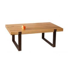 Dębowy stolik, ława - stare drewno.