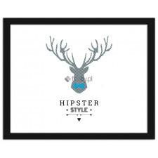 Deer - hipster style 2, Plakaty w ramie