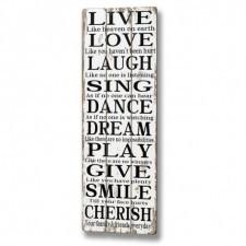Dekoracja ścienna Live Love Laugh