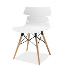 Designerskie krzesło na bukowych nogach Ferro
