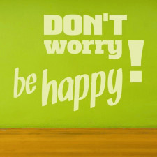 don't worry be happy 1719 naklejka