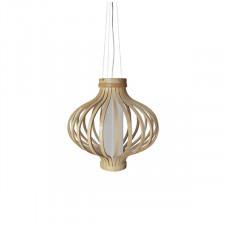 Drewniana lampa wisząca Barel 38cm King Home