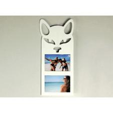 Drewniana ramka na zdjęcia Kot biała prezent