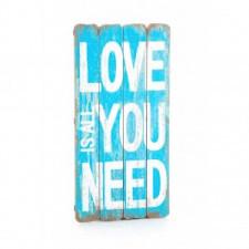 Drewniana tablica Love