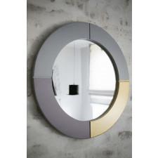 Drewniane okrągłe lustro