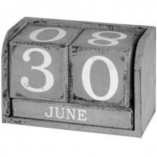 Drewniany kalendarz White